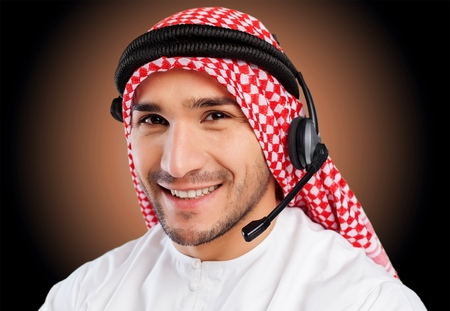 customer service representative: Arabian. Stock Photo