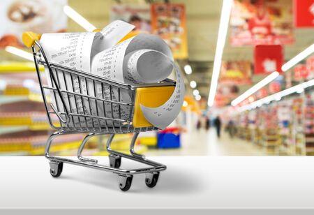 supermercado: Presupuesto. Foto de archivo