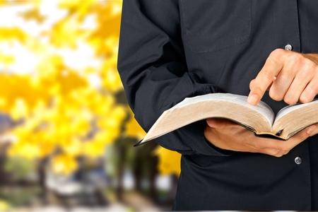 preacher: Bible. Stock Photo