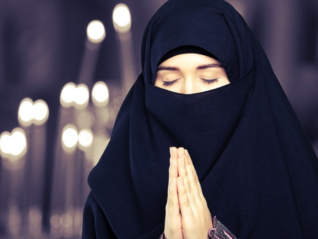 veiled: Muslim.