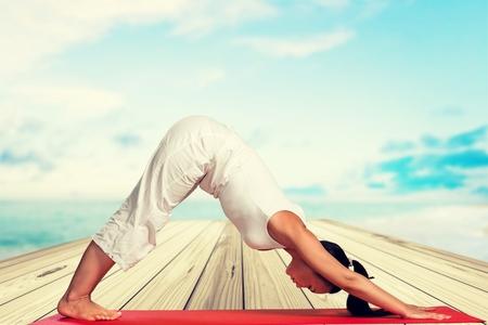 pilates: Yoga. Stock Photo