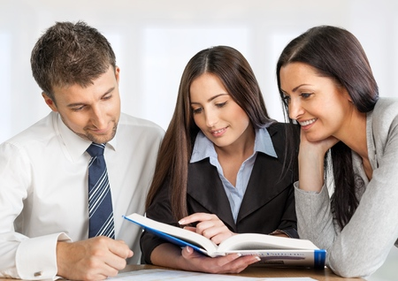working team: Marketing. Stock Photo