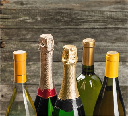 wine bottle: Wine Bottle. Stock Photo