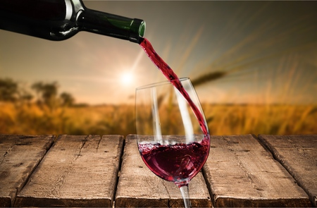 bottle of wine: Wine. Stock Photo