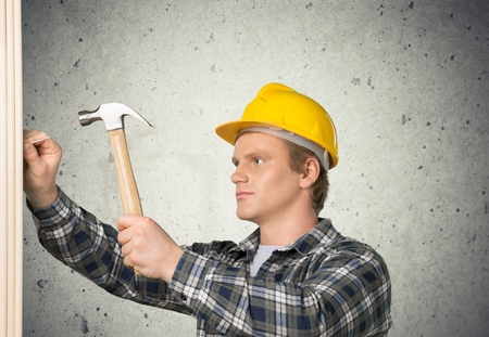 filipino ethnicity: Construction. Stock Photo
