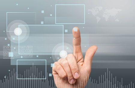 touching hands: Cloud Computing. Stock Photo