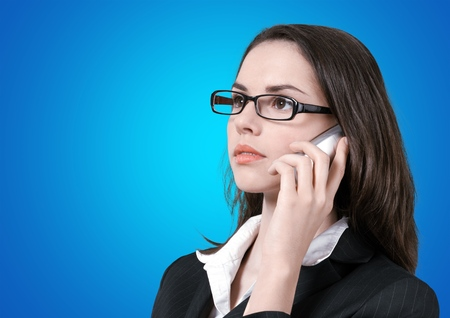 busy person: Mobile Phone. Stock Photo