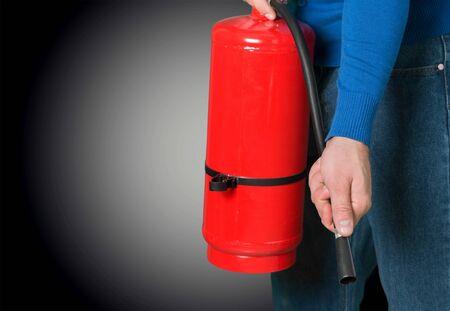 fire hoses: Fire. Stock Photo