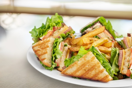 Clubsandwich. Stockfoto