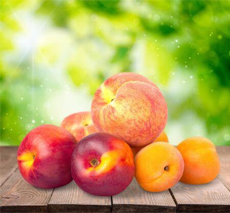 fruit background: Peaches.