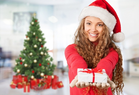 red gloves: Christmas.