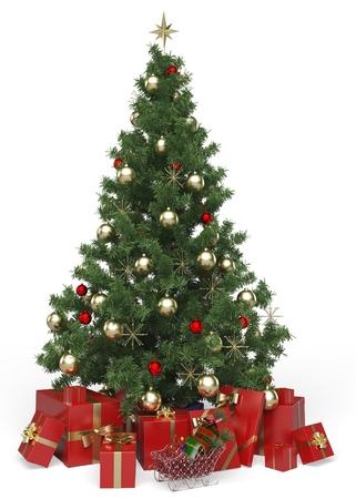 Christmas Tree. 스톡 콘텐츠