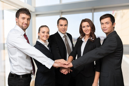 place of employment: Business Teamwork.