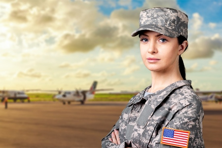 veterans: Military Female. Stock Photo