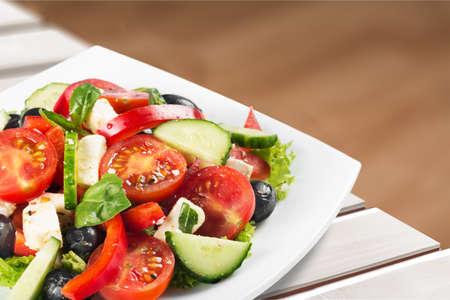diet dinner: Salad.