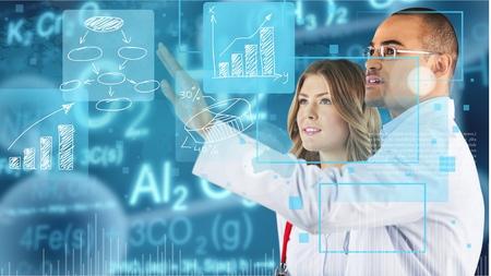bioengineering: Medical stats. Stock Photo