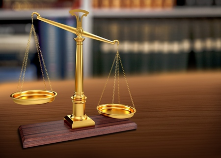 balanza en equilibrio: Ley de justicia.