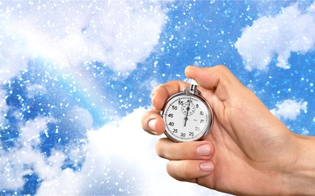 minute hand: Stopwatch. Stock Photo
