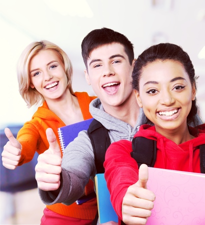 only teenage girls: High School Students. Stock Photo