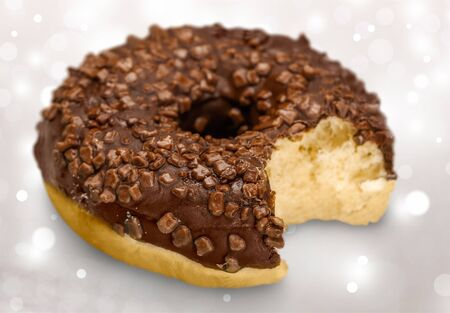 eating pastry: Donut. Stock Photo