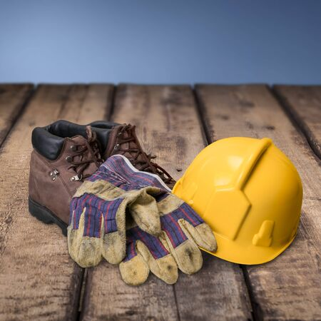 work boots: Safety Equipment.
