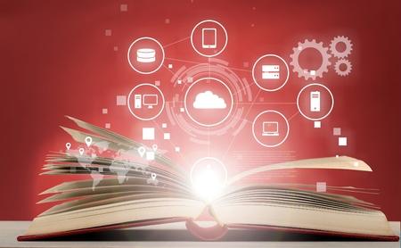 popup: Book graph. Stock Photo