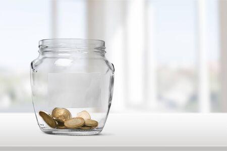 saving: Jar. Stock Photo