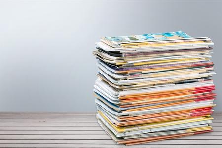 magazine stack: Magazine Stack. Stock Photo