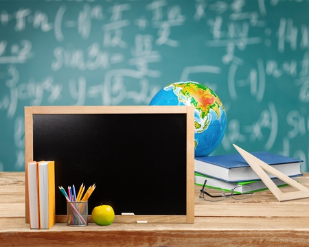 education background: Education tools concept Stock Photo
