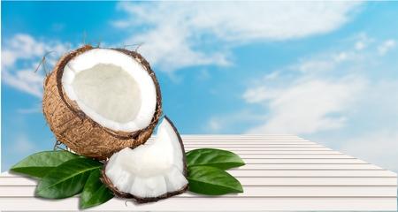 fresh leaf: Fresh Coconut.