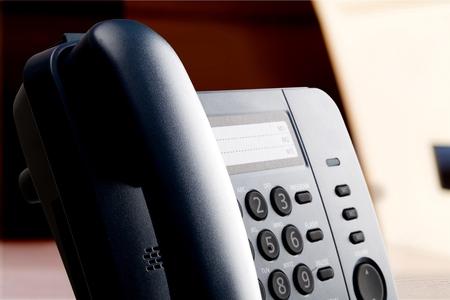 telephone receiver: Voip Telephone. Stock Photo