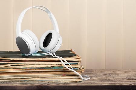 Vinyl records. Stock Photo