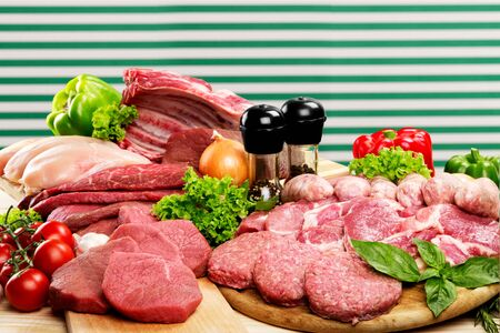 carne cruda: Raw Meat. Archivio Fotografico