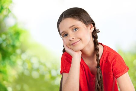 southern european descent: Smiling Child. Stock Photo