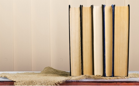 stacked books: Book.