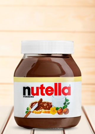 Nutella pot gebruikt voor redactionele Redactioneel