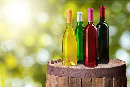 flavoured: Wine Bottles. Stock Photo