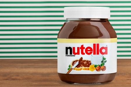 nutella: Nutella jar used for editorial
