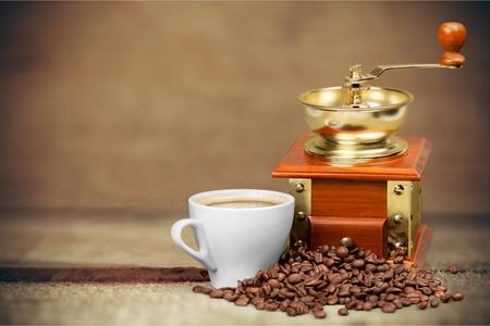 grinder: Coffee Grinder. Stock Photo