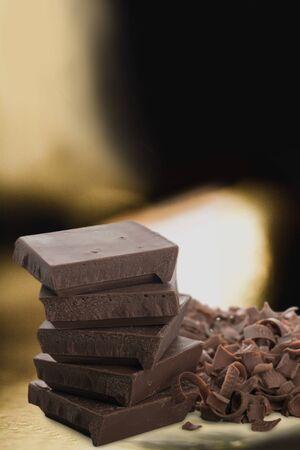 chocolate pieces: Chocolate Pieces. Stock Photo