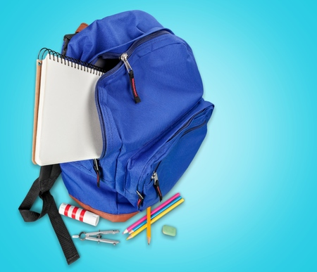 illiteracy: Education Backpack.