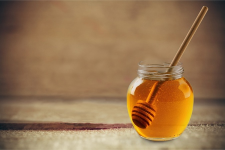 syrup: Honey Syrup. Stock Photo