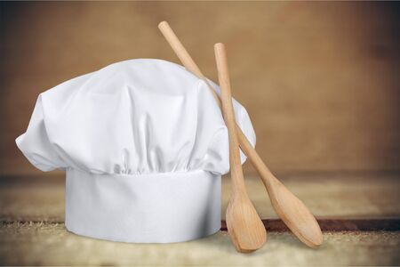cooking utensil: Chefs Hat. Stock Photo