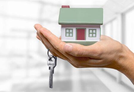 home finances: Real Estate. Stock Photo