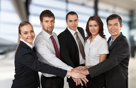team work: Business Team. Stock Photo