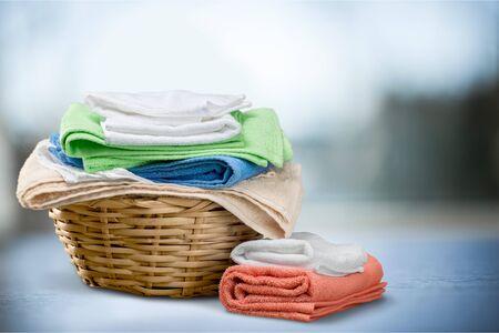 lavander: Toallas de lavandería. Foto de archivo