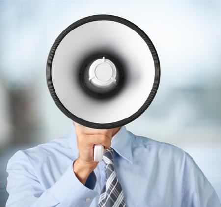 using voice: Using Voice Megaphone.