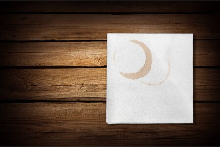 napkin: Napkin Stain. Stock Photo