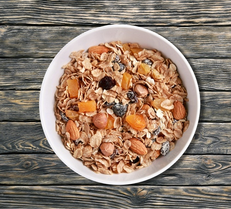 processed grains: Cereal Granola. Stock Photo