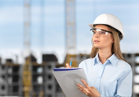engineering clipboard: Engineer Occupation. Stock Photo
